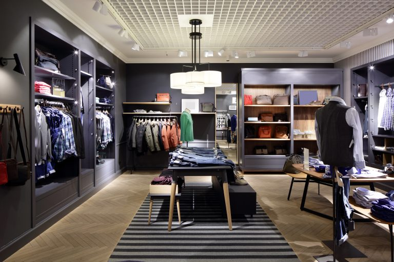 Luxury,And,Fashionable,Brand,New,Interior,Of,Cloth,Store